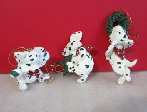 Enesco Purebred Pups Dalmations Set of 3 Hanging Ornaments