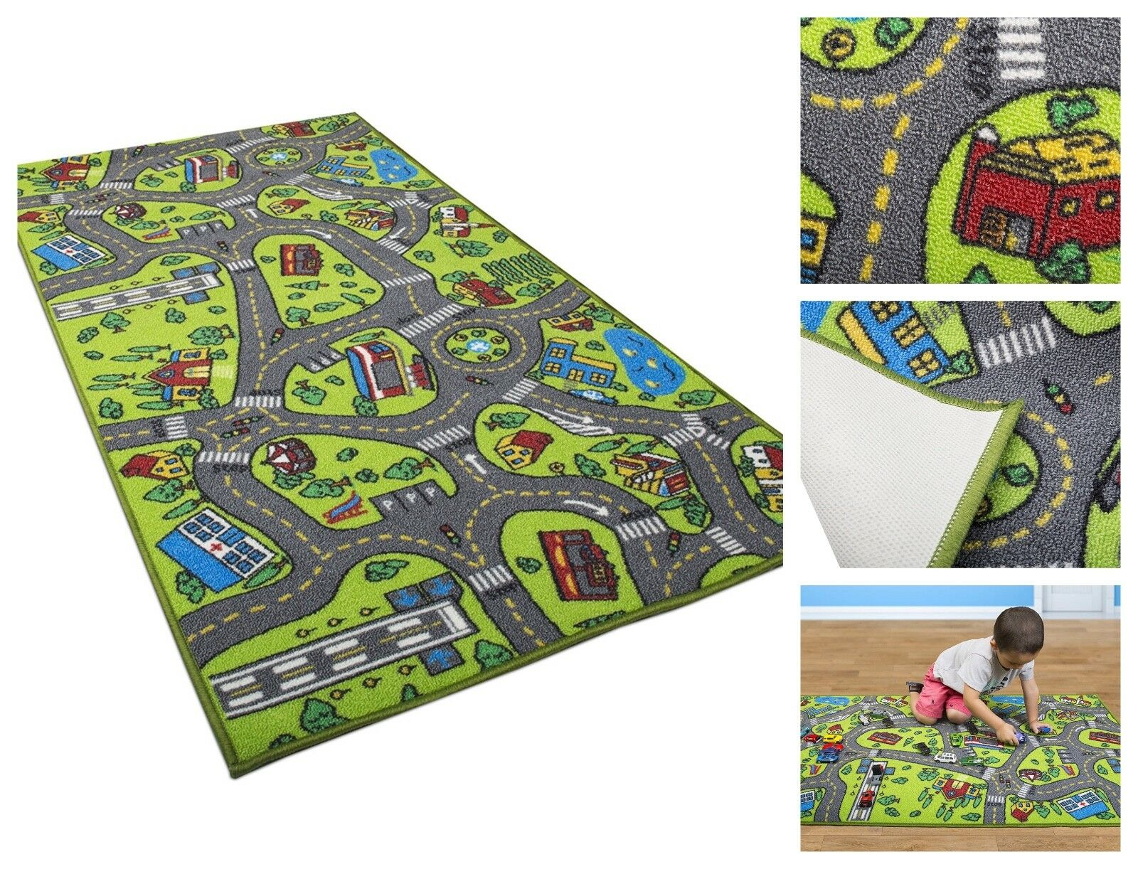 Kids Carpet Playmat Rug City Life - Great For Playing With C