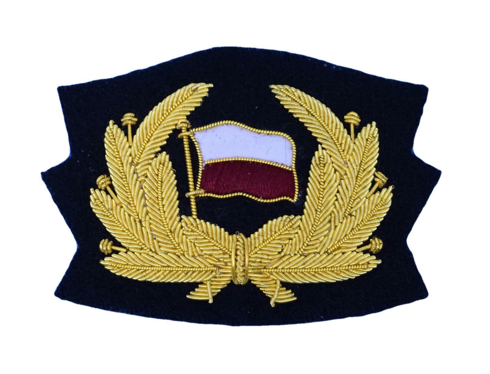 Badge Cap Badge Merchant Navy Wreath Flag
