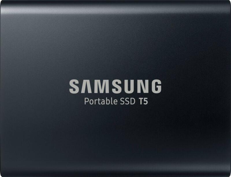 Samsung - T5 2TB External USB Type C Portable Solid State Drive - Deep black