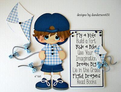 Kite Paper (BOY KITE  KIDS Die Cuts Paper Piecing PreMade 4 Border Scrapbook)