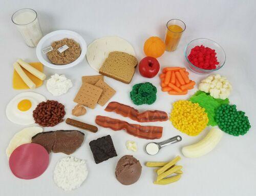 Nasco Life/Form Food Replica Set Models WA20485 / Dietary Teaching / Lot of 42