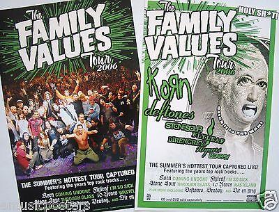 FAMILY VALUES 2006 TOUR POSTER-Korn,Deftones,Stonesour,Flyleaf,Direngrey,10Years