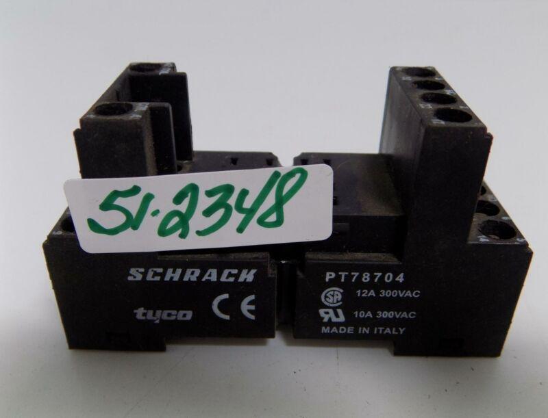 SCHRACK 12AMP 300VAC RELAY BASE PT78704