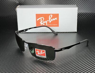 RAY BAN RB3498 002 71 Black Green 64 mm Men's Sunglasses