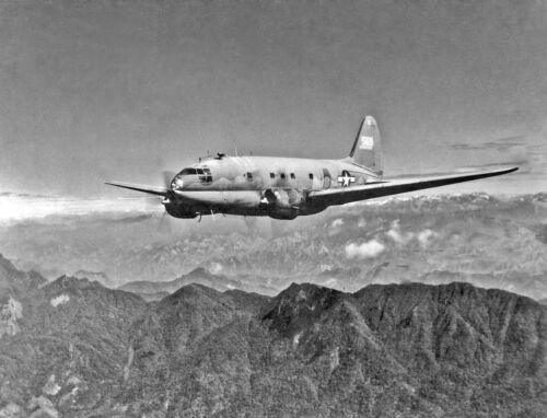 "USAAF Curtiss C-46 Commando ((8.5""x11"")) Print"
