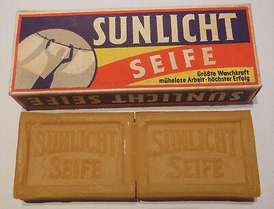Alte Sunlicht Seife, Zweierpackung, Karton