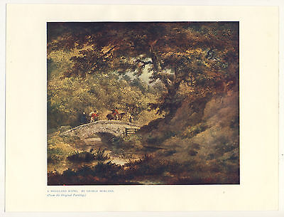 A Woodland Scene By George Morland 1906 Colour Print