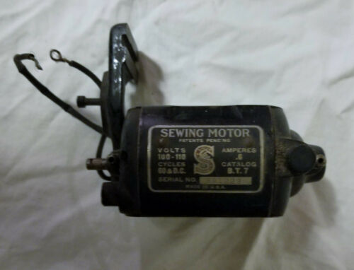 Original Singer Sewing Motor BT7 B.T. 7 with bracket. Tested Working 201