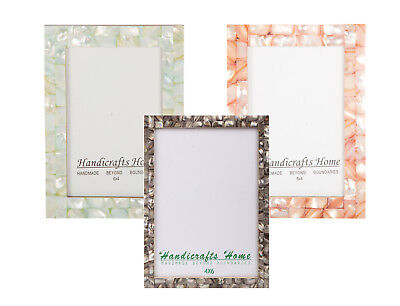 4x6 Picture Frames Chic Photo Frame Mother of Pearl Handmade Vintage Gifts  -