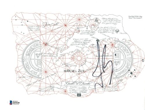 Josh Brolin Signed Autographed 8.5x11 THE GOONIES One-Eyed Willy's Map BAS COA