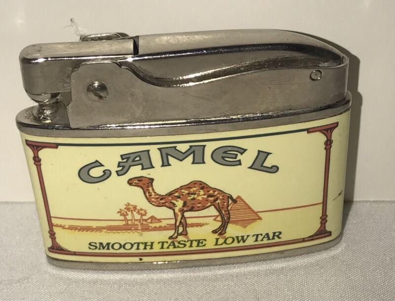 Vintage Camel Cigarette Flat Lighter-Firebird Brand-Japan-Not Fired!