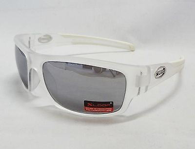 Xloop Sunglasses Cloudy CLEAR & WHITE With Mirror Tint Lens Unisex Men Sport New