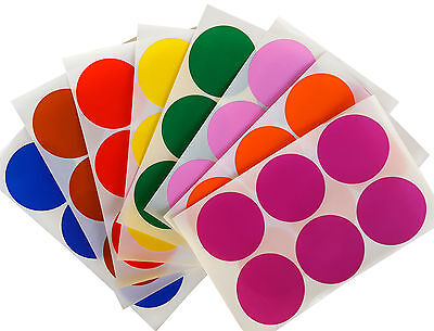 Colored Dot Stickers Moving Labels Round 2 50mm Color Stickers 72 Pack