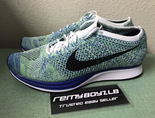669fdf9c1f8e ... clearance nike flyknit racer tranquil blue green black mens sz 10.5  trainer running shoes ad6ad 64af0