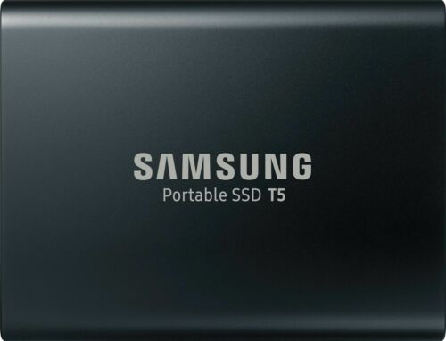 Samsung - T5 1TB External USB Type C Portable Solid State Drive - Deep black