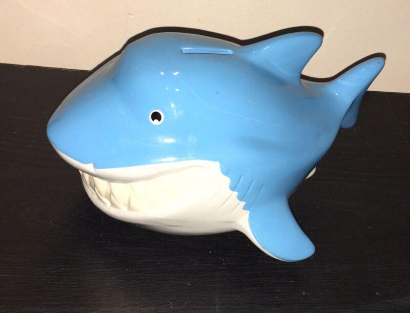 "FAB NY 9.5"" long GREAT WHITE SHARK Ceramic Piggy Bank"