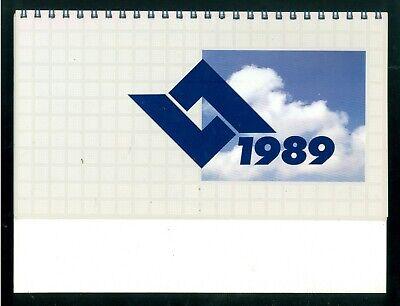 AERITALIA SOCIETA' AEROSPAZIALE ITALIANA CALENDARIO DA TAVOLO 1989 AERONAUTICA