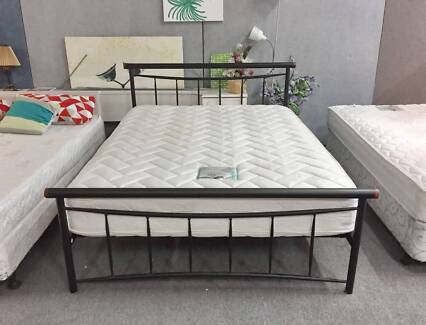 TODAY DELIVERY MODERN QUEEN BED frame & COMFORTABLE mattress
