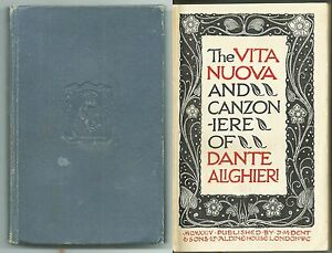 THE-VITA-NUOVA-AND-CANZONIERE-OF-DANTE-ALIGHIERI-Publ-Dent-amp-Sons-1924-RARO