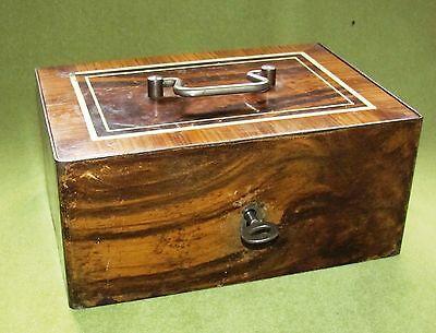 Alte Eisenkassette Bierlack m. 1 Schlüssel funktionsfähig