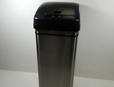 iTouchless Stainless Steel Automatic Trash Can with Odor-Absorbing Filter