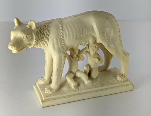Romulus Remus Capitoline Wolf Roma Italy Sculpture Vintage Figurine BTB