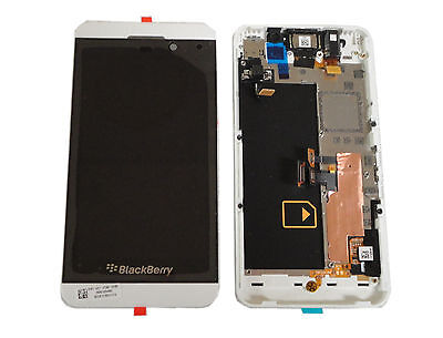 BlackBerry Z10 4G Cellphone LCD Screen Digitizer Assembly W 4G Mid Frame White for sale  Shipping to South Africa