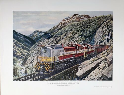 CP RS3 Diesel-Electric Locos in Coquihalla Pass, B.C. Montreal by Howard Fogg