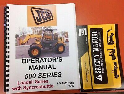 Jcb 500 Series Loadall Operators Manual - 9801-7701