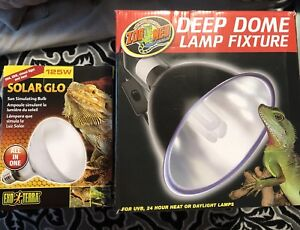 Deep dome lamp with all in one reptile light