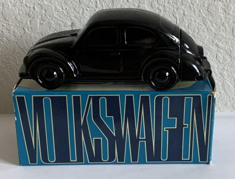 Vintage AVON Car Bottle, BLACK Volkswagen Beetle, FULL After Shave, Orig Box