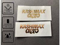 Kashimax Aero rear Seat Decal Sticker old school BMX Restoration decals