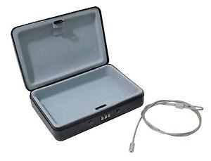 Portable Combination Lock Safe Box Motorhome Car Caravan Van Home Steel Tether