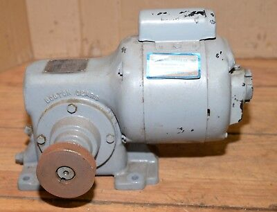 Boston Gear Speed Reducer 18 Rpm 14 Hp Motor 36 To 1 Ratio Barbecue Pig Spit