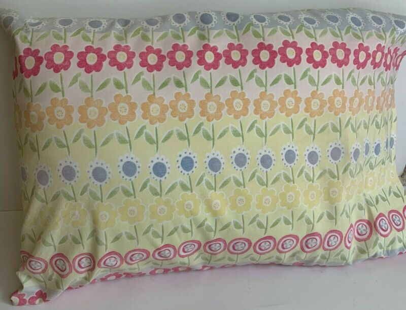 Pottery Barn Kids Floral Crib Toddler small  Pillow with Case 9x12 Decorative