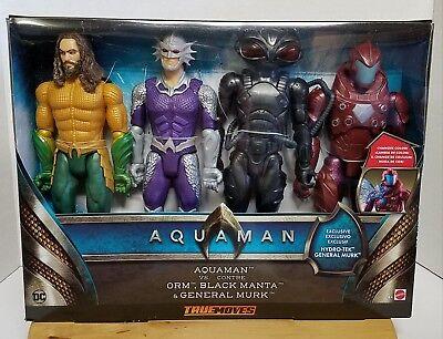 """Mattel 2018 Aquaman Vs Orm, Black Manta, and General Murk 12"""" Action Figures"""