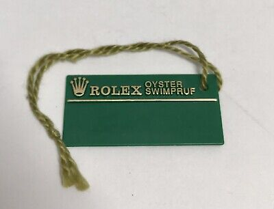ROLEX Green Tag Hangtag Oyster Swimpruf W897734 SUBMARINER GMT EXPLORER 1994/95