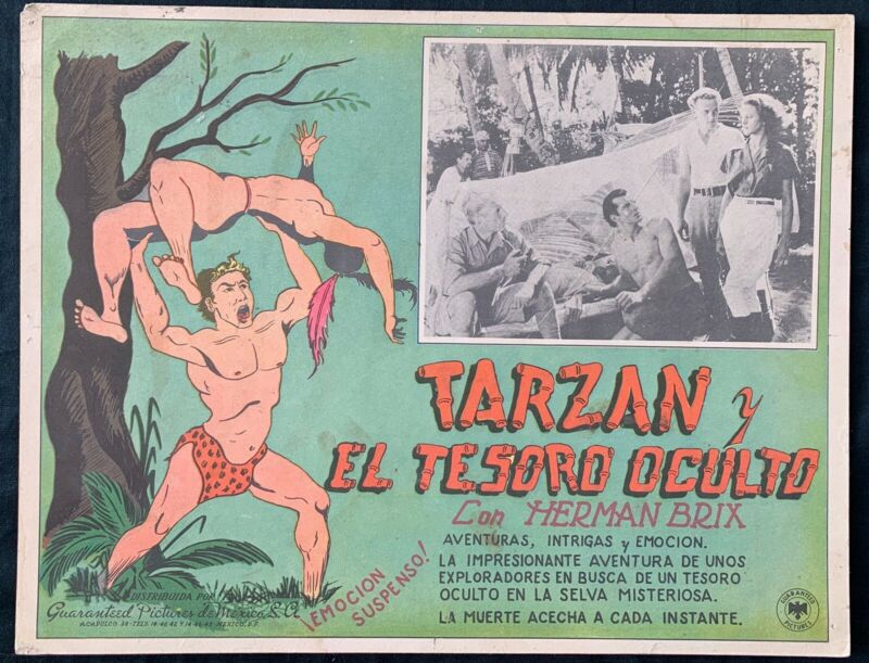 THE NEW ADVENTURES OF TARZAN Herman Brix MEXICAN  LOBBY CARD 1935