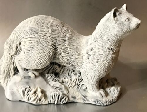 Ferret Russian sable figurine marble chips sculpture Souvenirs from Russia