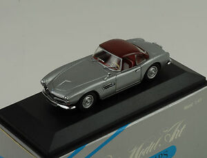 bmw 507 cabriolet toit rigide argent minichamps 1 43 ebay. Black Bedroom Furniture Sets. Home Design Ideas