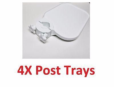 4x Tpc Us100 Post Mounted Utility Pole Post Tray Shelf Table Dental Medic White