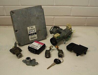Mazda MX5 - Mk2 (NB) 98-00 - ECU AND LOCK SET - BP5Z CODE - ignition door