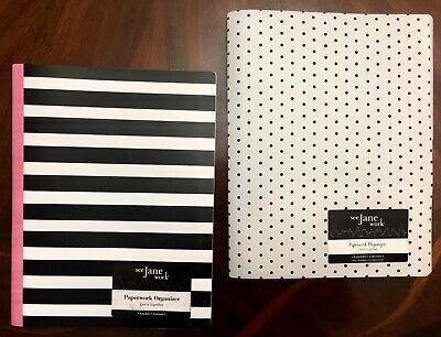 See Jane Work Poly Expanding File Folder 8-pocket Polka Dots Stripes