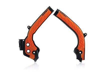 Acerbis X Grip Frame Guard Protectors Black Orange KTM SXF 250 350 450 2018