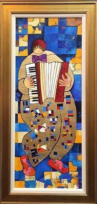 Israeli Art - Dorit Levi Original Oil on Linen, Framed + Free serigraph on paper