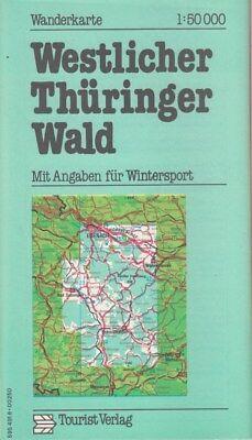 Wanderkarte WESTLICHER THÜRINGER WALD  1:50 000 1977 DDR Tourist Verlag