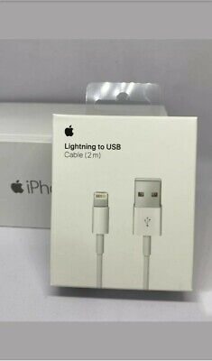 2m BOXED GENUINE & ORIGINAL OFFICIAL Apple iPhone 7/6S/6+/5S Charger USB Cable