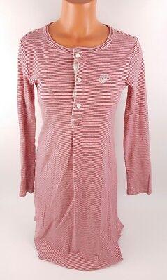 Lauren Ralph Lauren Womens Small Tunic Pajama Top Long Sleeve Monogram Christmas](Monogrammed Christmas Pajamas)