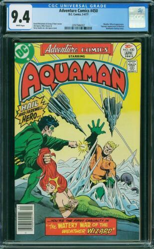 ADVENTURE COMICS 450 CGC 9.4 AQUAMAN MERA APARO COVER 1977